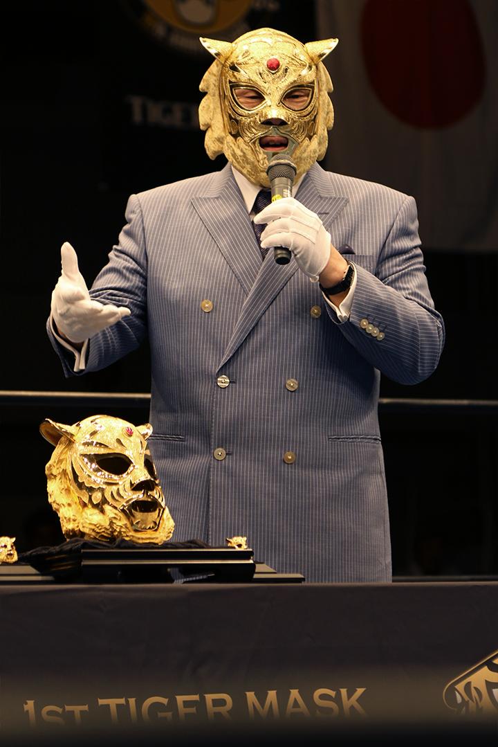 純金マスクの感想を述べる初代タイガーマスク2